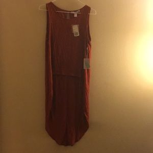 NWT Rust Colored High-Low Shirt-XS